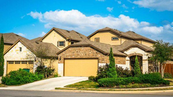 Suburban single family home facade